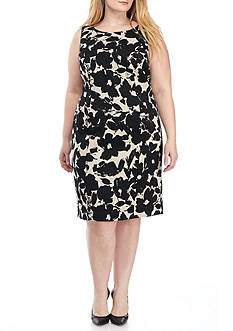 Kasper Plus Size Floral Print Sheath Dress