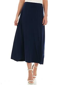 Kasper Solid Jersey Maxi Skirt