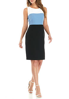 Kasper Petite Colorblock Sheath Dress