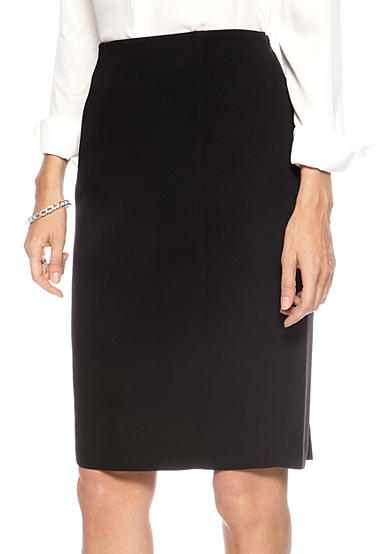 Kasper Crepe Pencil Skirt