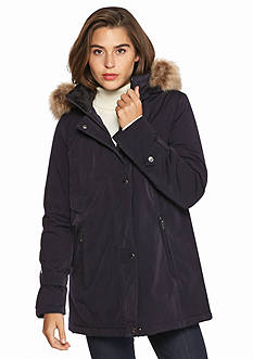 Gallery Snap Front Faux Fur Hood Parka