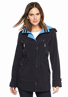 Gallery Covered Zip Anorak Coat