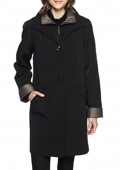 Gallery Button Front Coat with Hood