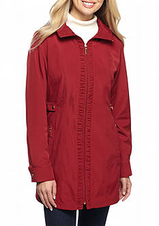 Gallery Ruff Zip Front Coat With Hood