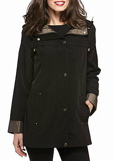 Gallery A-Line Button Front Jacket With Hood