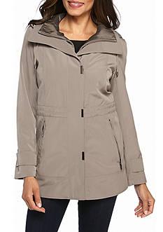 Gallery Cinch Waist with Snap Bib Rain Coat
