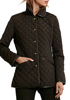 Ralph Lauren Faux Leather Quilted Blazer