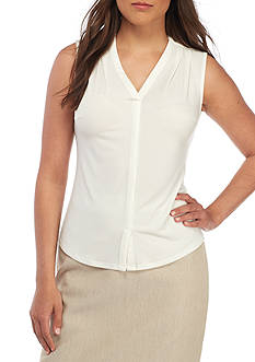 John Meyer Sleeveless V-Neck Shell