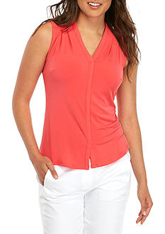 John Meyer Sleeveless V Neck Shell