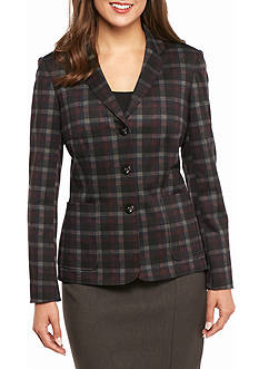 John Meyer Button Up Plaid Jacket