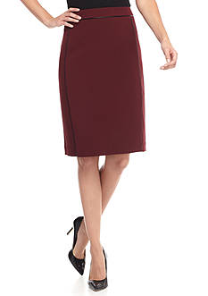 John Meyer Pencil Skirt With Trim