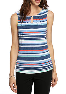 John Meyer Pleat Neck Shell Top
