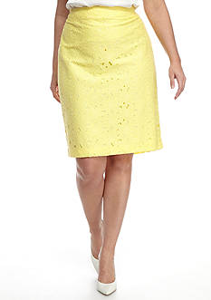 John Meyer Plus Size Lace Skirt