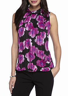John Meyer Printed Sleeveless Blouse