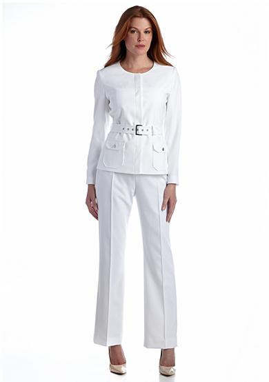 Model Details About Pendleton Womens Pant Suit Sz 8 Brown Chequer Silk Linen Blend Jacket   Jackets ...