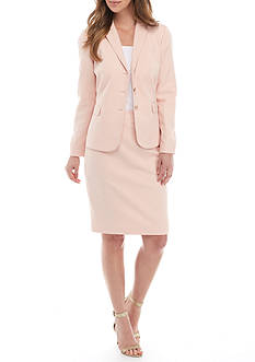 John Meyer Notch Collar Jacket Skirt Suit