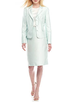 John Meyer Triple-Button Skirt Suit