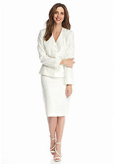 John Meyer White Skirt Suit