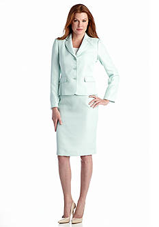 John Meyer Pastel Shimmer Skirt Suit
