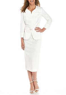 John Meyer Lace Skirt Suit