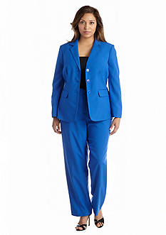 John Meyer Plus Size Cobalt Pant Suit