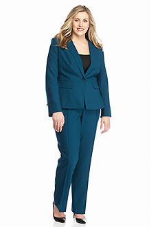 John Meyer Plus Size Single Button Pant Suit