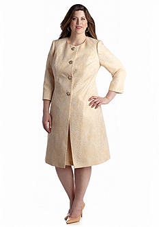 John Meyer Plus Size Jacket Dress Suit