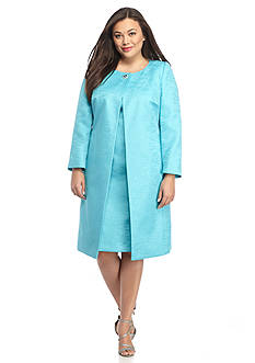 John Meyer Plus Size Jewel Button Dress Suit