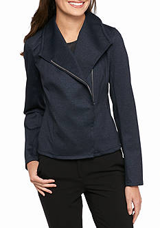 Tommy Hilfiger Asymmetrical Zip Knit Jacket