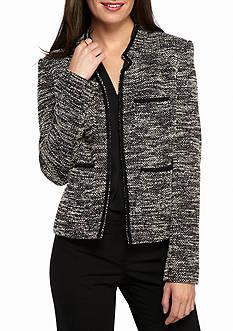 Tommy Hilfiger Tweed Collarless Jacket