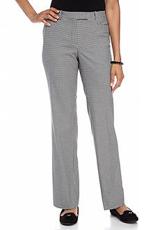 Tommy Hilfiger Straight Leg Checkered Dress Pants