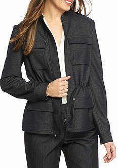 Tommy Hilfiger Polished Denim Tie Waist Jacket