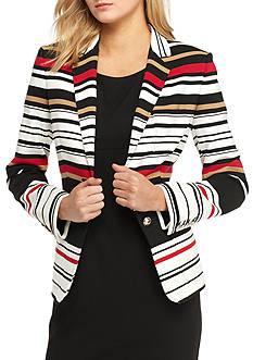 Tommy Hilfiger Stripe Button Front Jacket
