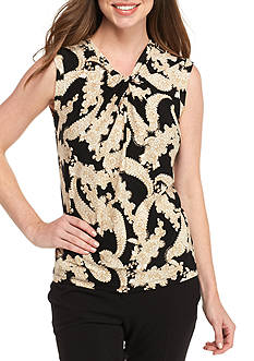 Tommy Hilfiger Sleeveless Paisley Blouse