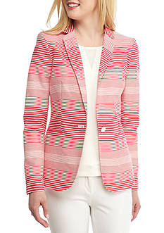Tommy Hilfiger Striped Single Button Jacket