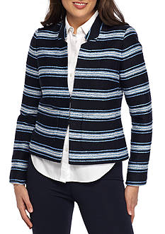 Tommy Hilfiger Textured Stripe Flyaway Jacket