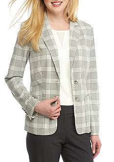 Tommy Hilfiger Plaid Dual-Button Jacket
