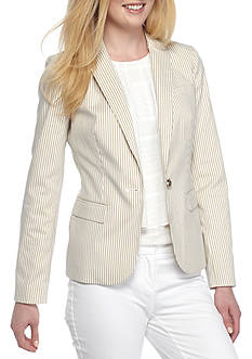 Tommy Hilfiger Stripe Notch Collar Jacket
