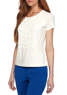 Tommy Hilfiger Ruffle Front Top