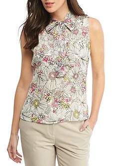 Tommy Hilfiger Floral Printed Tie Neck Cami