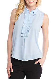 Tommy Hilfiger Sleeveless Ruffle Front Top