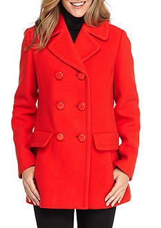 kate spade new york Double Breasted Bow Back Coat
