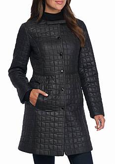kate spade new york Jewel Neckline Quilted Coat