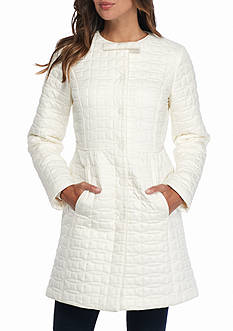 kate spade new york Jewel Neckline Quilted Coat