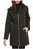 kate spade new york® Quilted Zip Hood