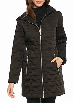 kate spade new york Quilted Zip Hood