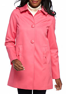 kate spade new york Hooded Jacket with Front Button