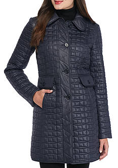 kate spade new york Quilted Princess Seam Coat