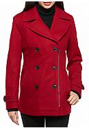 Lucky Brand Notch Collar Wool Peacoat