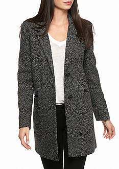 Lucky Brand Notch Collar Two Button Tweed Coat